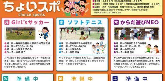 ちょいスポ 長崎県南島原市 特定非営利活動法人 コミュニティスポーツクラブ TEAMひまわり